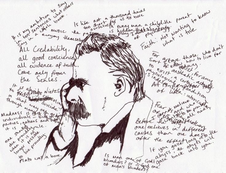 Friedrich-Nietzsche-Sketch
