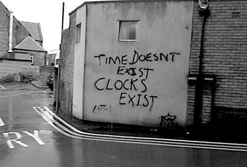 time doesn't exist, clocks exist (correlationism)