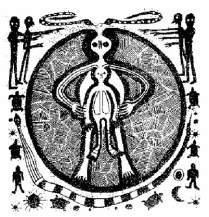 ancient alien - a drawing found in Italy