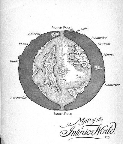 agartha map of interior world