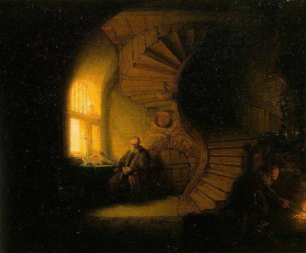 Philosopher in Meditation by Rembrandt, 1632