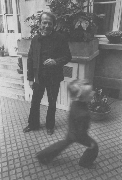 Gilles Deleuze et sa fille Emilie - 1972