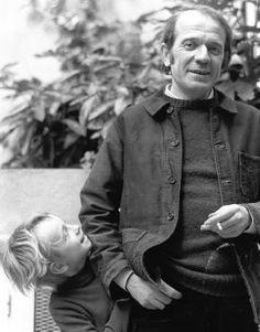 Gilles Deleuze (1925 - 1995) with his son Emilé...