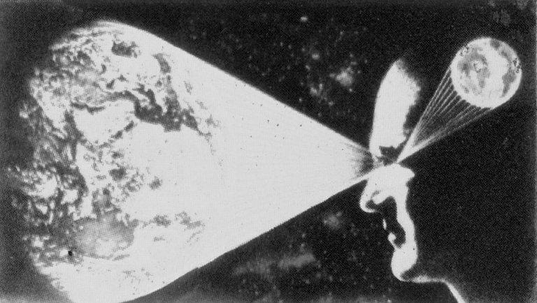 Vintage illustration of Nikolai Lutohin, taken from the 70's Yugoslavian sci-fi magazine Galaksija
