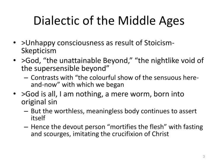hegel - unhappy consciousness - phenomenology of spirit