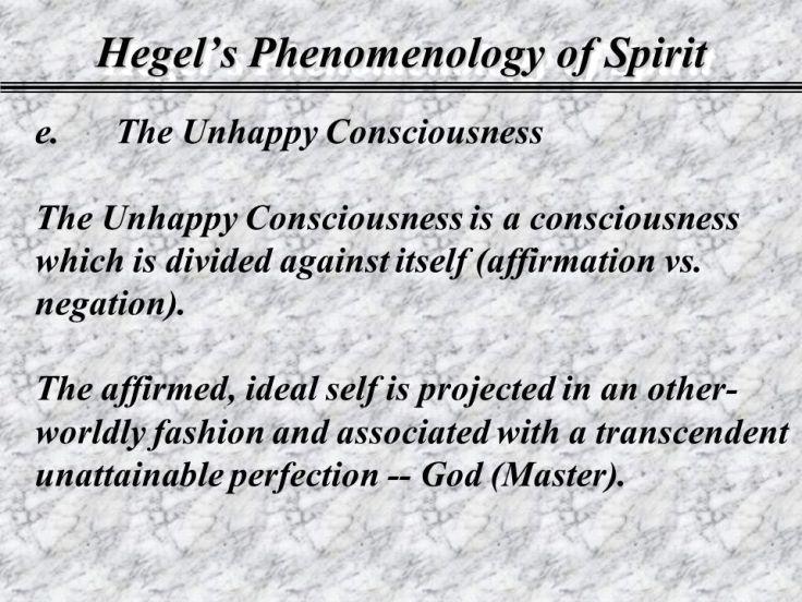 hegel's unhappy consciosness