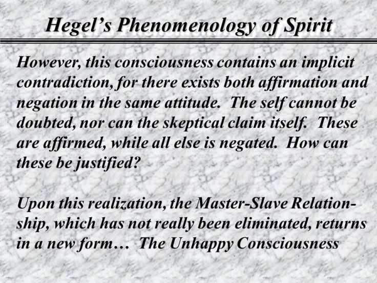 hegel's unhappy consciousness dialectic